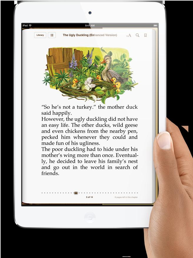 apple ipad mini e-book reader kindle ibooks