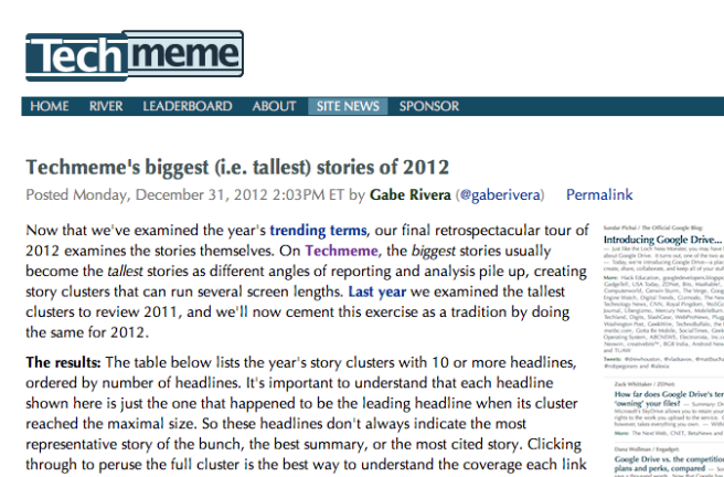 techmeme biggest technology stories 2012