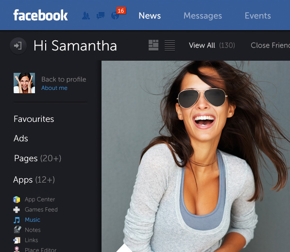 facebook graphic design redesign