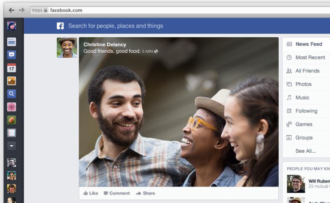 new facebook redesign concept