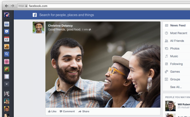 new facebook redesign concept