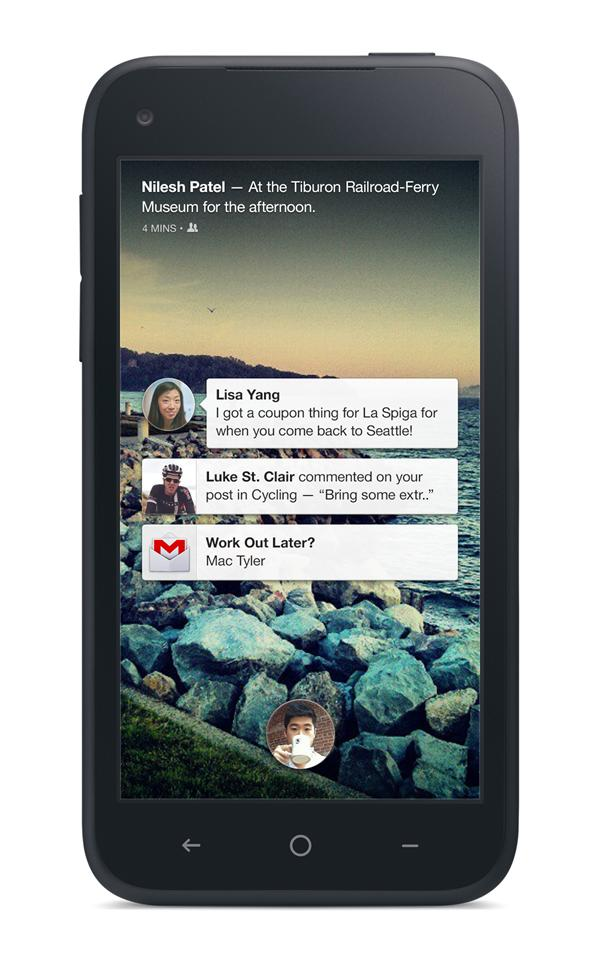 facebook first home screen new