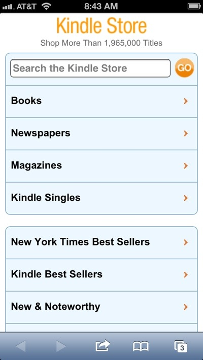 how to buy kindle books on iphone ios